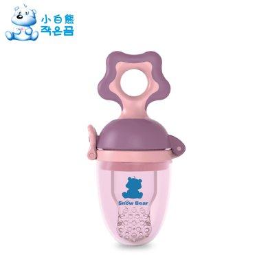 小白熊奶嘴型嬰兒咬咬訓練器(粉紫)小碼(09290)