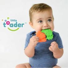Little Toader/小托德嬰兒寶寶牙膠玩具硅膠無毒磨牙棒0-1-2-3歲