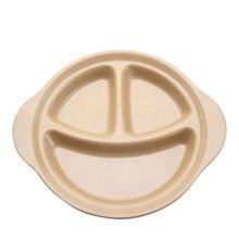 殼氏唯 幼兒園兒童餐具 創意笑臉三格碟寶寶嬰兒輔食環保餐碟