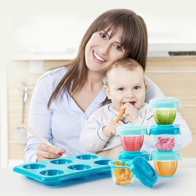 dexbaby輔食盒便攜外出帶蓋 嬰兒零食盒冷凍盒寶寶餐具密封存儲盒