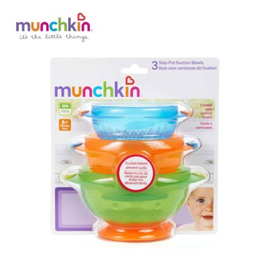 Munchkin/滿趣健   吸盤碗 - 3個裝