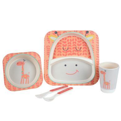 zolitt寶寶兒童餐具碗勺子套裝嬰兒餐盤學吃飯輔食碗卡通可愛