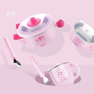 zolitt 兒童餐具 嬰兒注水保溫碗寶寶防摔碗輔食碗吸盤碗叉勺套裝