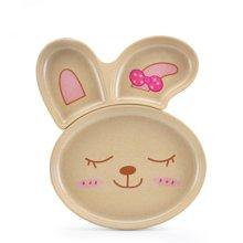 【壳氏唯 幼儿园儿童餐具 创意三格碟宝宝婴儿辅食环保餐碟