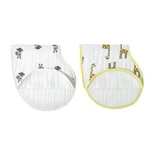 aden+anais美国品牌多功能护肩口水巾婴儿围嘴围兜2只装