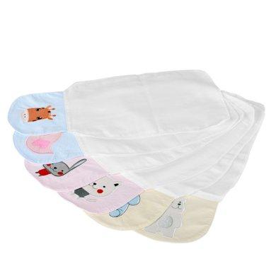 卓理/zolitt 婴儿纯棉纱布吸汗巾宝宝垫背巾幼儿园隔汗巾全棉加大6条装