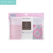 【韩国进口现货】Mother-K婴幼儿口水巾 10枚 无荧光纯棉 新生儿围嘴 饭兜