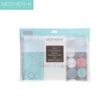 【韩国进口现货】Mother-K婴幼儿口水巾 10枚 无荧光竹纤维 新生儿围嘴 饭兜