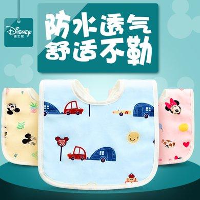 美國Disney迪士尼寶寶口水巾 嬰兒 新生兒純棉紗布毛巾卡通圍嘴圍兜K01