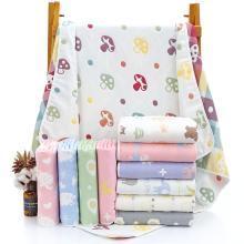 三只小貓 嬰兒浴巾六層紗布純棉童被80*80寶寶蓋毯兒童毛巾幼兒園童嬰隨機顏色 ksjwd05