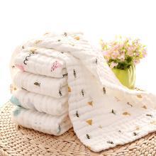 三只小貓 嬰幼兒寶寶高密六層泡泡水洗紗布童巾 兒童洗臉巾 嬰兒口水巾 顏色隨機發 ksjwd01