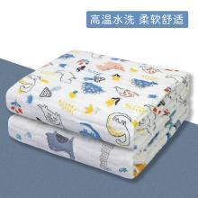三只小猫 婴儿毛巾浴巾六层童被纯棉?#24202;?#27611;巾被吸水儿童宝宝盖毯110*110CM ksjwd04