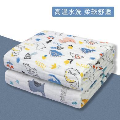 三只小貓 嬰兒毛巾浴巾六層童被純棉紗布毛巾被吸水兒童寶寶蓋毯110*110CM ksjwd04