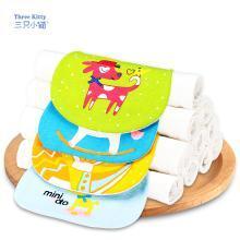 三只小猫婴幼儿纯棉纱布吸汗巾儿童幼儿园隔汗垫背巾