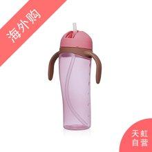 日本Pigeon贝亲企鹅吸管杯训练杯带手柄粉色(330ml)
