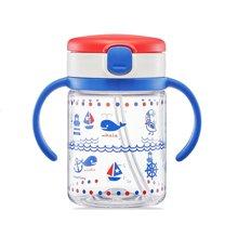 【香港直邮】日本Richell利其尔儿童吸管水杯带手柄透明杯200ml*1个