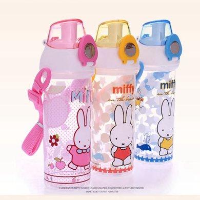 寶寶水杯 米菲一鍵開蓋吸管水杯 兒童水杯 幼兒園寶寶防漏吸管杯 兒童防摔學飲杯4233
