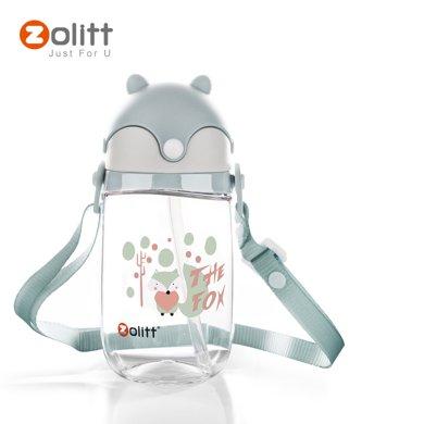 zolitt嬰兒童寶寶喝水杯子吸管杯壺重力球學飲杯防摔幼兒園背帶組