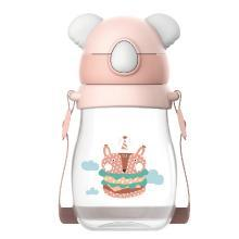 威仑帝尔考拉卡通户外背带tritan吸管杯儿童水杯宝宝学饮杯水杯BZ081