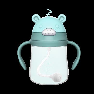小壯熊吸管杯學飲杯兒童寶寶水杯嬰兒學飲防嗆喝水杯子帶吸管 210ml
