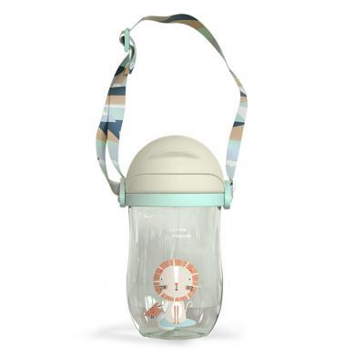 babycare 學飲杯兒童水杯防摔防撞重力球吸嘴杯寶寶吸管杯 360ml/2718