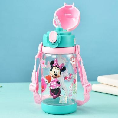 迪士尼兒童水杯家用小學生吸管杯子防摔幼兒園便攜夏季tritan水壺pop袋裝