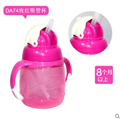 貝親吸管式寶寶杯 玫紅色 DA74