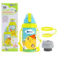 婴侍卫儿童保温杯带吸管两用宝宝不锈钢双层真空卡通保温杯500ml图案随机YSWF726