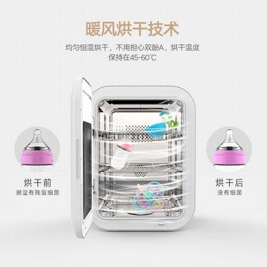 小壯熊嬰兒奶瓶消毒器帶烘干紫外線消毒鍋柜多功能寶寶不銹鋼殺菌