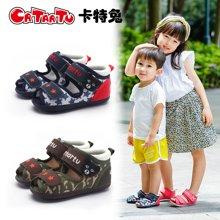 卡特兔学步鞋凉鞋夏季网布男女童宝宝新品2018机能鞋软底0-3-5岁