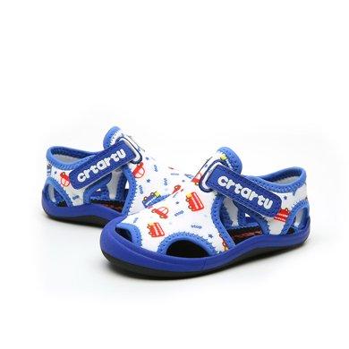 卡特兔男童鞋子2018儿童凉鞋女宝宝?#38041;?#32593;鞋0-3-5岁防滑沙滩鞋