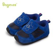 巴贝乐babelos新款春秋季软底防滑宝宝鞋羊皮学步鞋男女婴儿室内鞋0-1-2岁B31712069
