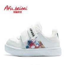 阿福貝貝秋季寶寶鞋軟底舒適學步鞋耐磨防滑小白鞋1-3歲男女 A8331