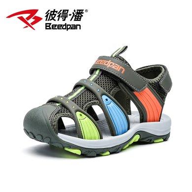 彼得潘兒童中大童新款夏季包頭軟底涼鞋潮防滑男孩韓版沙灘鞋P896