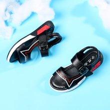 小叮当童鞋夏季新款男童凉鞋牛皮沙滩鞋中小童鞋儿童韩版单鞋DBT17356/556