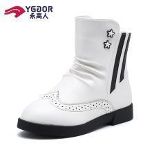 永高人童鞋儿童靴子小学生皮短靴冬季公主鞋韩版女童靴子