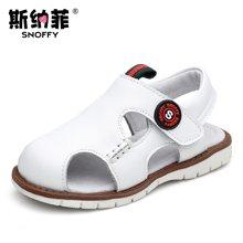 斯納菲男童鞋寶寶鞋涼鞋防滑軟底學步鞋牛皮1-2-3歲小童鞋子春夏17772