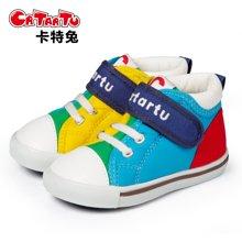 卡特兔1-3-5岁秋冬婴儿学步鞋男女宝宝鞋子防滑软底机能鞋帆布鞋