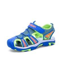彼得潘中大童学生儿童沙滩鞋潮男孩夏季新款包头男童防滑凉鞋P8083
