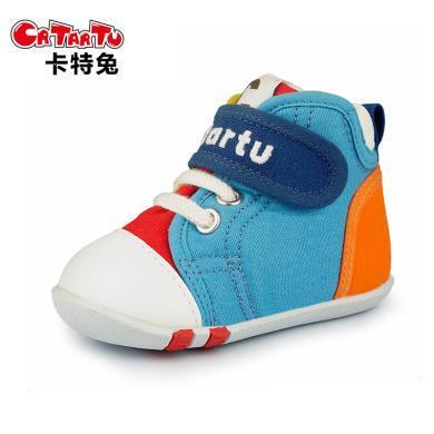 卡特兔1-3-5歲秋冬嬰兒學步鞋男女寶寶鞋子防滑軟底機能鞋帆布鞋