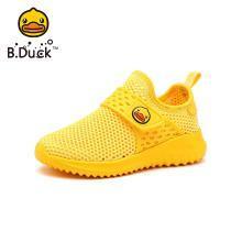 B.Duck小黄鸭童鞋男童运动鞋2019春季新款儿童跑步鞋女童潮鞋B1083935