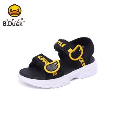 B.Duck小黃鴨童鞋女童涼鞋2019夏季新款兒童透氣休閑鞋子男童涼鞋B2085003