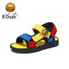 B.Duck小黃鴨童鞋男童涼鞋2019夏季兒童沙灘涼鞋露趾透氣運動涼鞋B2085911