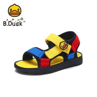 B.Duck小黄鸭童鞋男童凉鞋2019夏季儿童沙滩凉鞋露趾透气运动凉鞋B2085911