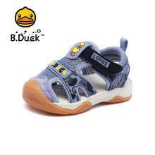 B.Duck小黃鴨童鞋男童包頭涼鞋2019夏季兒童沙灘涼鞋寶寶機能涼鞋B2085912