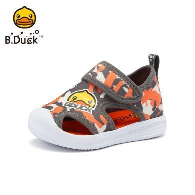 B.Duck小黄鸭童鞋男童包头凉鞋2019夏季儿童沙滩凉鞋?#38041;?#23453;宝凉鞋B2085907