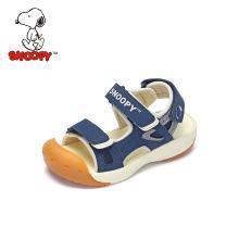 史努比童鞋男童凉鞋2019夏季新款儿童凉鞋包头防踢男童鞋机能凉鞋小童S9125807
