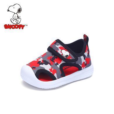 史努比童鞋男童涼鞋2019夏季新款兒童涼鞋包頭防踢男童鞋軟底小童涼鞋S9125734