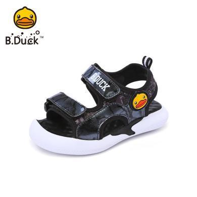 B.Duck小黃鴨男童涼鞋2019夏季新款小童透氣舒適防滑沙灘鞋B2086916