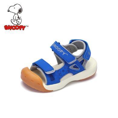 史努比童鞋男童涼鞋2019夏季新款兒童涼鞋包頭防踢男童鞋機能涼鞋小童S9125807
